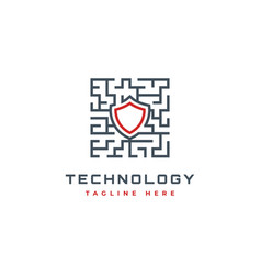 security technology logo design inspiration vector image