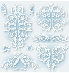 Set of vintage baroque border vector