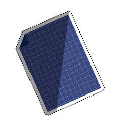Solar panel technology vector