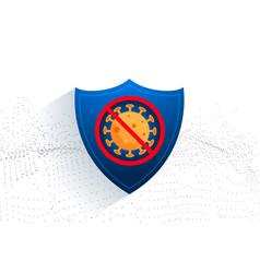 Stop coronavirus protection sheild for medical vector