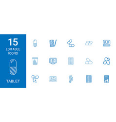 Tablet icons vector