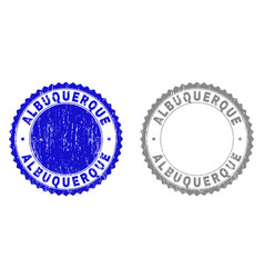 Textured albuquerque scratched stamp seals with vector