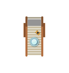 Top view sunbed isolated icon vector