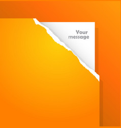 Torn paper with place for your own text vector
