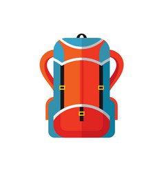 tourist camping backpack - flat style icon vector image