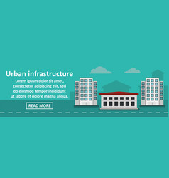 urban infrastructure banner horizontal concept vector image