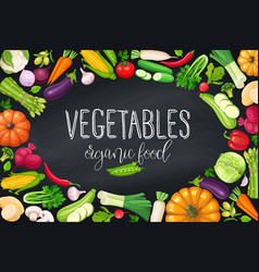 vegetables frame healthy food vector image