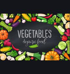 Vegetables frame healthy food vector