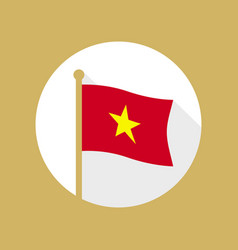 vietnam national flag flat icon vector image