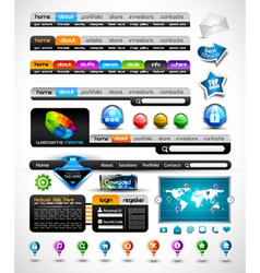 Web premium collection vector