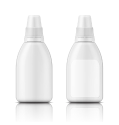 White plastic bottle template vector image