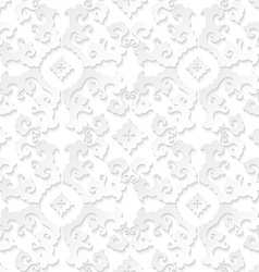 Abstract floral white background vector image