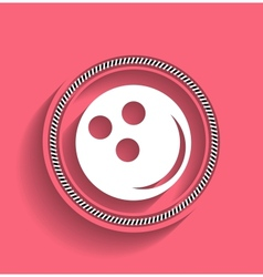 Bowling ball icon modern flat icon vector image