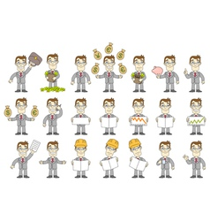 Business set vector image vector image