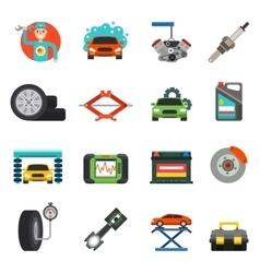 Car repair service icons set vector image vector image