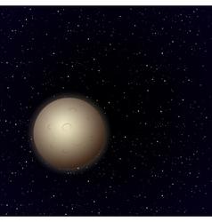 Cartoon Moon in open space vector image vector image