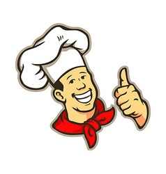 Chef Give A Thumbs Up vector image