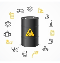 Oil industry concept vector