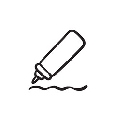 sauce bottle sketch icon vector image