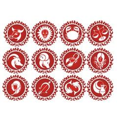 Set of zodiac signs vector image vector image