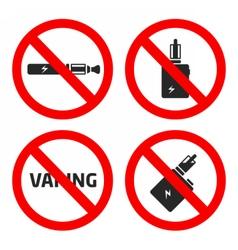 Set vaping icons vector