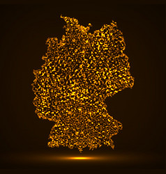 abstract map of germany with glowing particles vector image