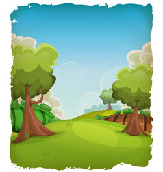 cartoon rural landscape background vector image vector image