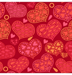 love and Valentines Day seamless pattern with vector image