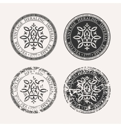Vintage retro set Grunge stamp collection vector image vector image