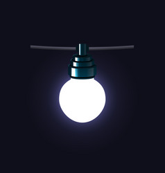 christmas glowing lights garlands bulb vector image