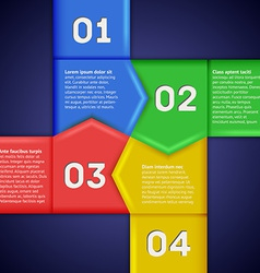 Infographics with square of numbered pointers vector image