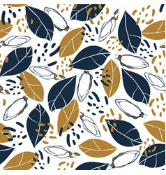 trendy seamless pattern with botanical elements vector image