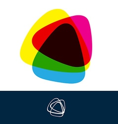 Abstract triangle logo vector image vector image