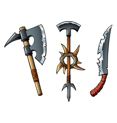 Fantasy weapons vector image