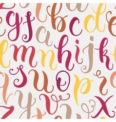 Hand drawn abc letters seamless pattern vector image