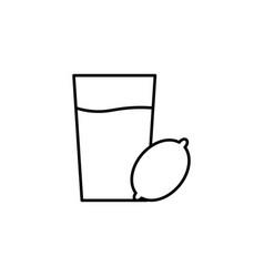 lemonade icon vector image vector image