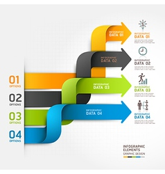 Modern arrow business infographics ribbon style vector image vector image