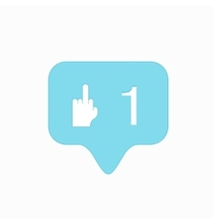 modern middle finger up icon isolated on vector image vector image