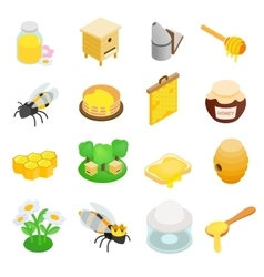 Apiary isometric 3d icon vector image
