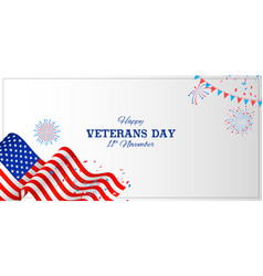 Army memorial happy veterans day usa honoring all vector