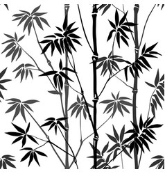 bamboo seamless pattern vector image vector image