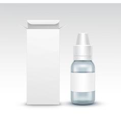 Blank Medicine Medical Glass Spray Bottle vector image
