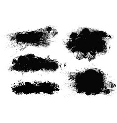 brush strokes paintbrush set grunge vector image