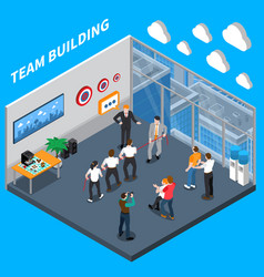 Business coaching isometric composition vector