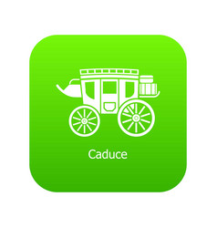 carriage icon green vector image
