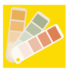 color palette on white background vector image