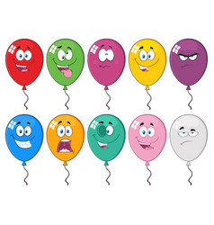 colorful balloons cartoon character 03 collection vector image