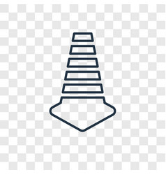 Cone concept linear icon isolated on transparent vector