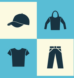 Dress icons set collection of pants casual vector