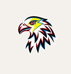Eagle thunder logo vector